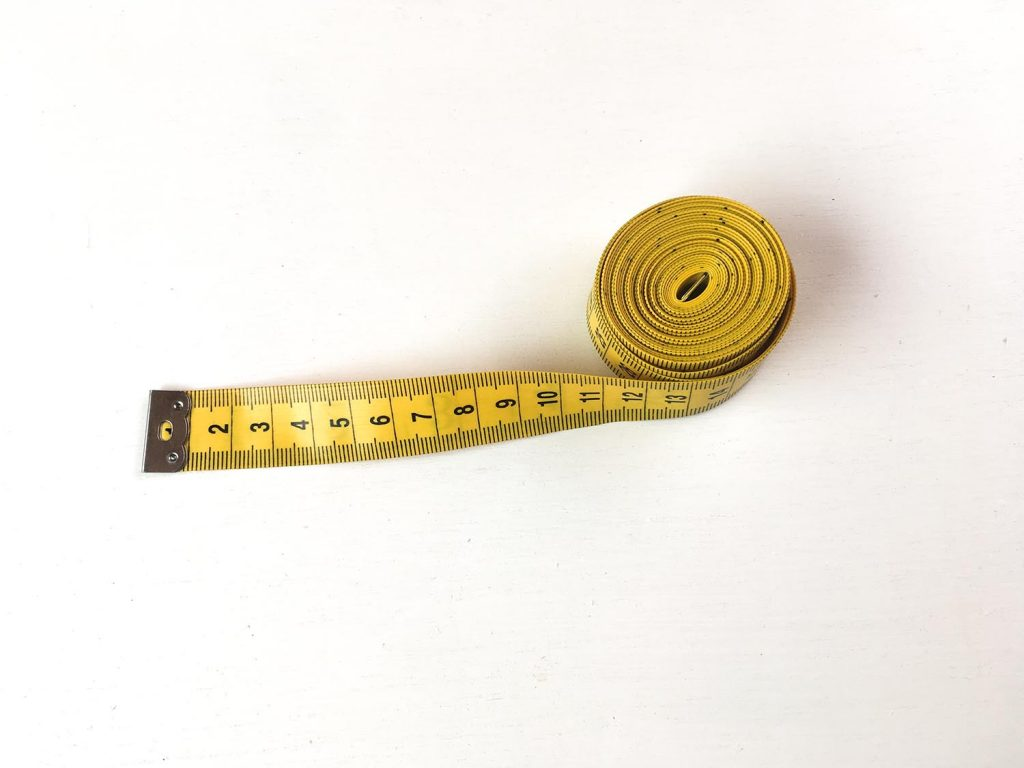 A 3m length wide yellow tape measure