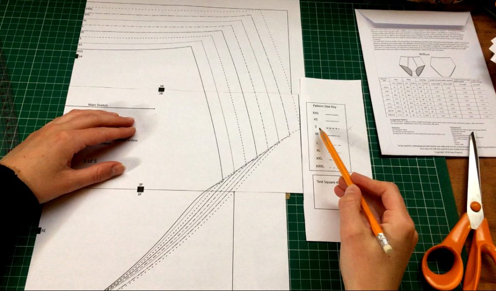 How to adapt an underwear sewing pattern to fit your measurements