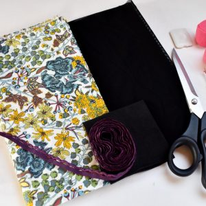 Tropical Floral Plum Knicker Making Sewing Kit