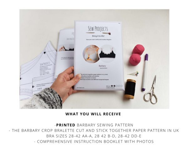 Barbary Bralette Printed Sewing Pattern