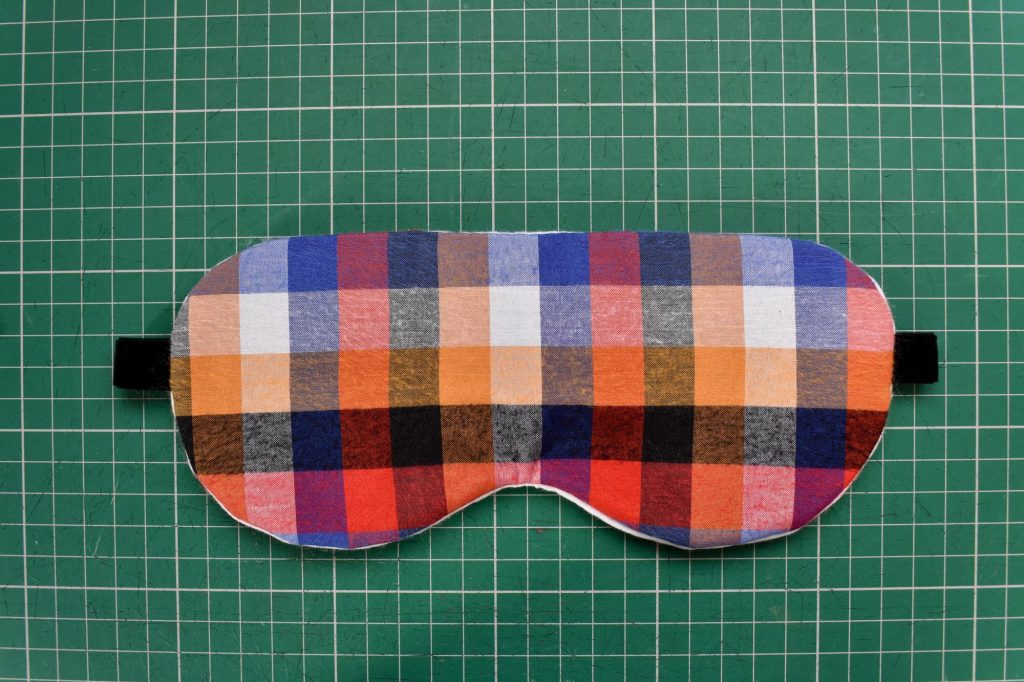 Finished hand sewn sleep mask