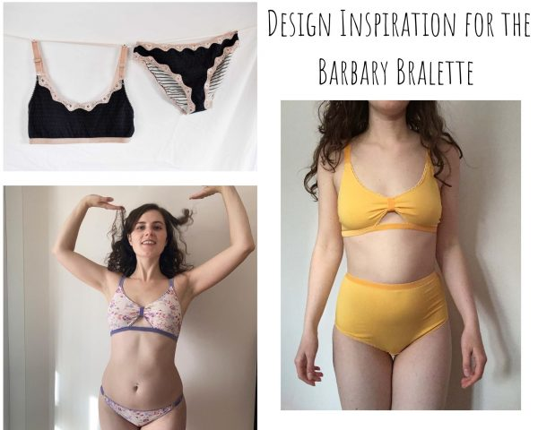 Barbary Bralette Printed Sewing Pattern design inspiration