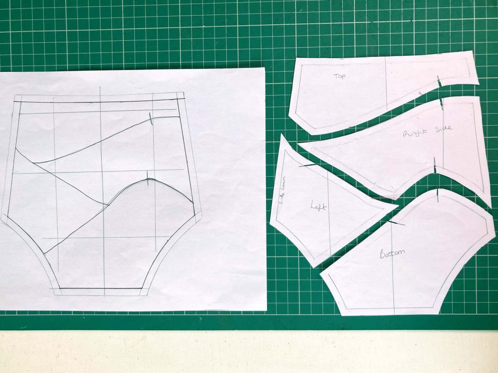 Pattern cutting for scrap art knickers