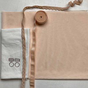 lingerie sewing kit peach mesh