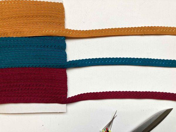 scalloped fold over elastic multi