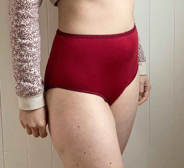 Bamboo Red High Waist Knickers