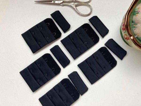 38mm Black Bra Fasteners