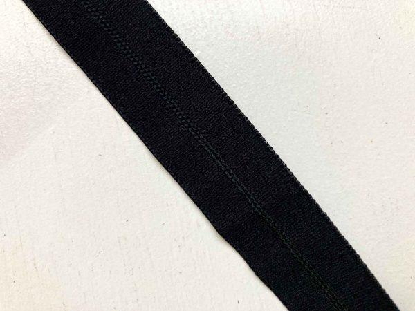 Black wide Foldover Elastic