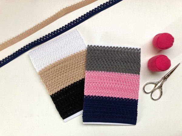 Picot edge knicker elastic set