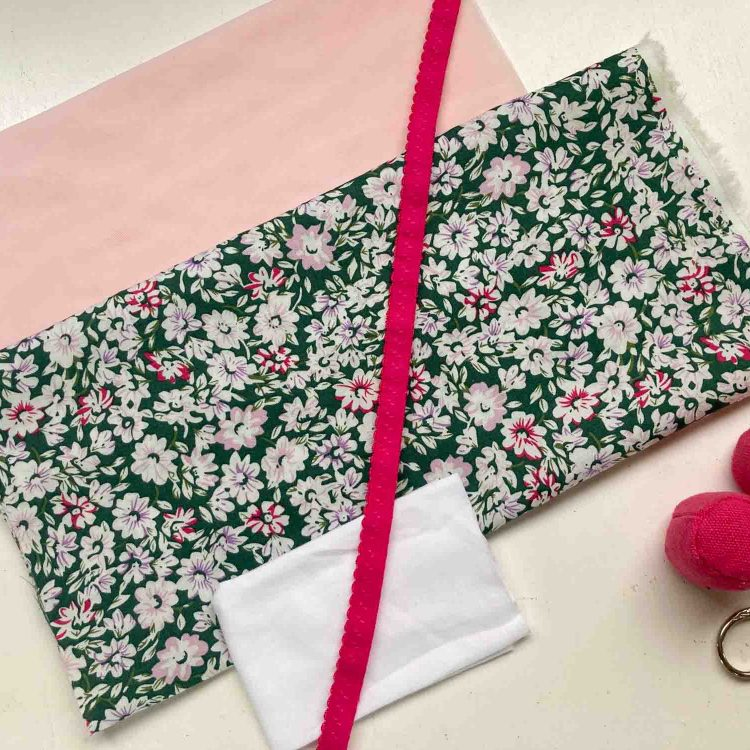 knicker and panty sewing kit floral sage and fuscia